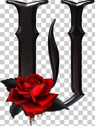 Gothic Alphabet Letter U Gothic Art PNG