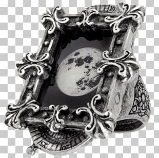 Silver Ring Jewellery Pewter Alchemy Gothic PNG