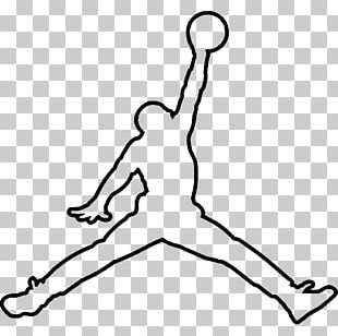 Jumpman Air Jordan Logo Drawing PNG
