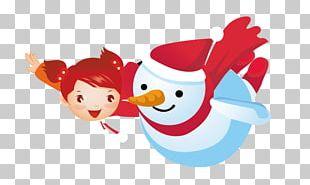 Child Snowman Cartoon PNG