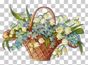 Basket Flower Garden Vintage Clothing PNG