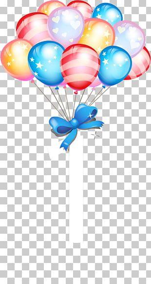Birthday Cake Balloon Gift PNG