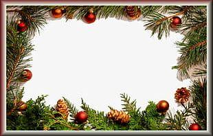 Christmas Ball Pineal Decorative Borders PNG