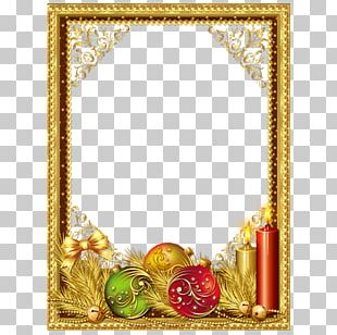 Christmas Frame Gold PNG