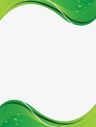 Green Wavy Background PNG