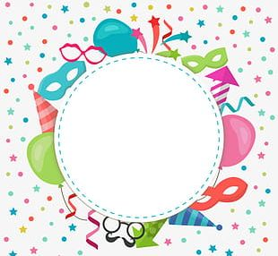 Color Cartoon Birthday Party Elements PNG