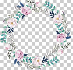 Floral Design Wreath Watercolor Painting Flower PNG