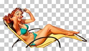 Pin-up Girl Artist Poster PNG