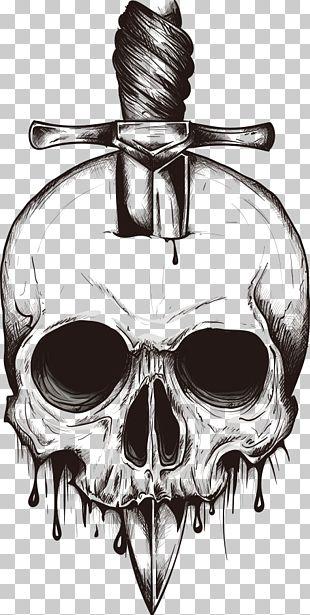Skull Knife Euclidean PNG