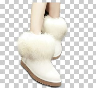 Snow Boot Shoe White PNG