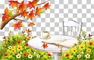 Coffee Cafe Autumn Leaf Color Tree PNG