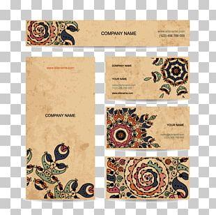 Elegant Floral Card Material PNG