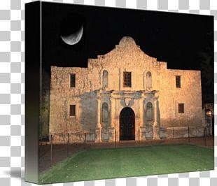 Alamo Mission In San Antonio Canvas Print Art PNG