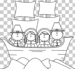 Plymouth Coloring Book Mayflower Pilgrims Thanksgiving PNG