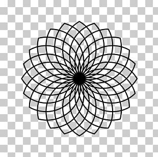 Sacred Geometry Circle Pattern PNG