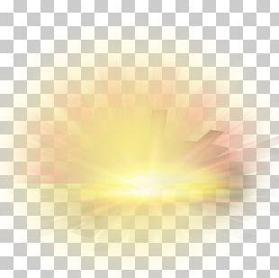 Yellow Sunlight Computer PNG