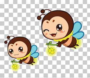 Flappy Firefly Light Firefly Cartoon PNG