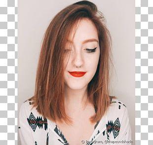 Bob Cut Brown Hair Hair Coloring Lob PNG