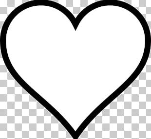 Heart Black And White Valentines Day PNG