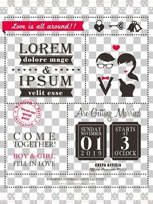 Wedding Invitation Save The Date Illustration PNG