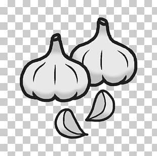 Black And White Food Garlic PNG