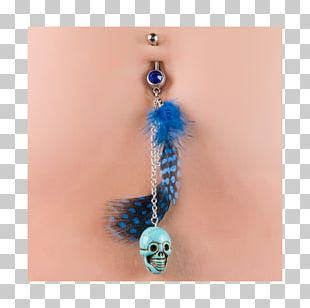 Earring Body Jewellery Feather Bead Turquoise PNG