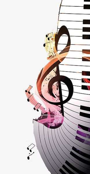 Music Notes Piano PNG