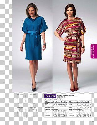 Sewing Ruffle Dress Fashion Pattern PNG