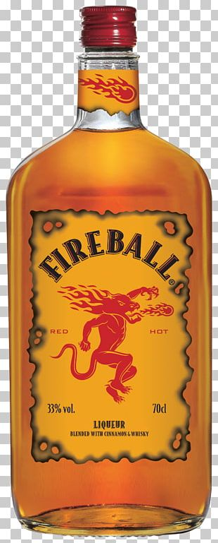 Fireball Cinnamon Whisky Distilled Beverage Whiskey Canadian Whisky Liqueur PNG