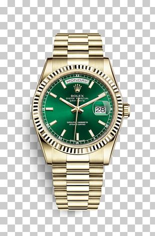 Rolex Day-Date Watch Rolex Oyster Gold PNG