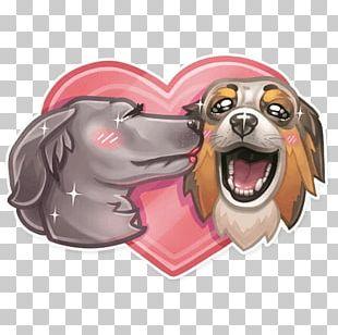Dog Puppy Snout Telegram Sticker PNG
