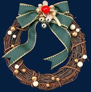 Christmas Wreath Decoration S PNG