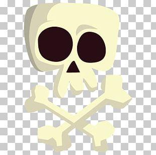 Glasses Cartoon Skull Illustration PNG
