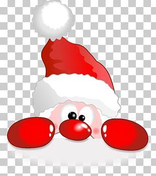 Rudolph Funny Santa Claus Reindeer Christmas PNG