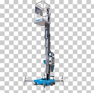 Aerial Work Platform Genie Elevator Architectural Engineering Equipment Rental PNG