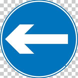 Left Turn Traffic Sign PNG