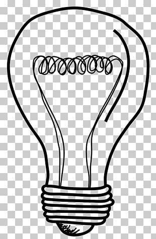 Incandescent Light Bulb Drawing PNG