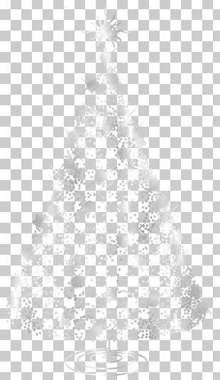Christmas Tree White Silver PNG