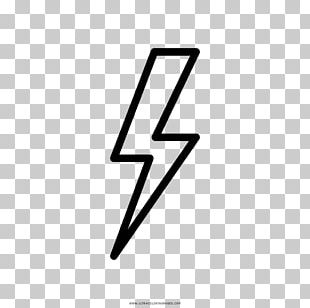 Lightning Drawing Coloring Book Lampo Thunder PNG