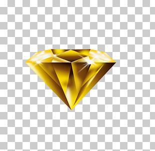 Yellow Diamond Paper PNG
