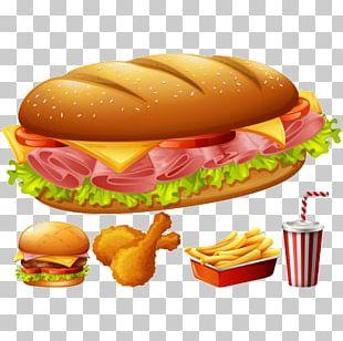 Hamburger Hot Dog Fast Food Ham And Cheese Sandwich PNG