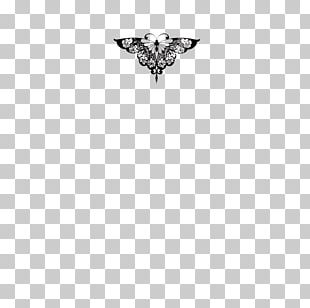 Butterfly Black White Font PNG