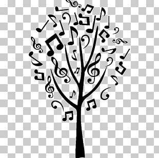 Sticker Text Musical Note Tree PNG