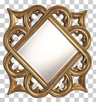 Mirror Frames Decorative Arts Gold Wall PNG