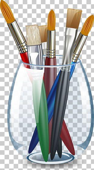 Palette Pencil Paintbrush Painting PNG