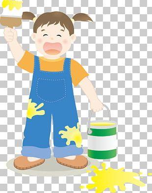Cartoon Painting Illustration PNG
