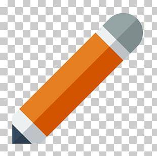 Pencil Angle Orange PNG