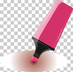 Pink Watercolor Painting Pen PNG