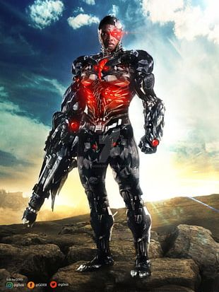 Cyborg Diana Prince Superman The Flash Justice League PNG