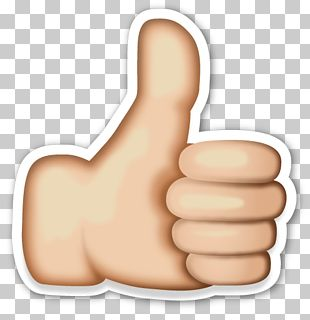 Emoji Thumb Signal Sticker Icon PNG